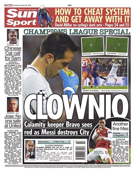 """""""Clownio"""": medio inglés trata de payaso a Bravo en su portada de este jueves"""