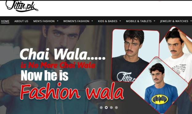 La tienda de ropa en línea Fitin.pk se apuró a contratar a Arshad Khan como modelo.