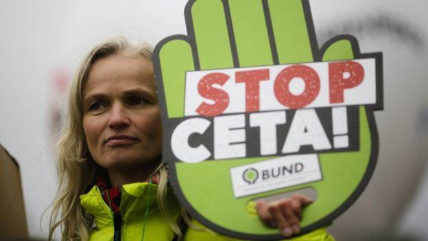 Bélgica ha tenido manifestaciones en contra del Ceta y de otro acuerdo comercial con Estados Unidos conocido como TTIP.