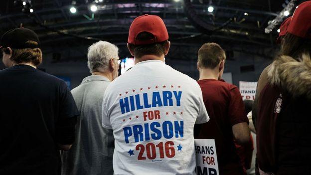 Trump amenazó con encarcelar a Clinton.