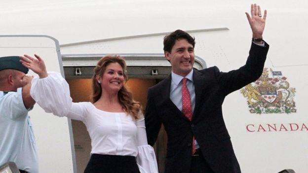 Justin Trudeau y su esposa llegaron este lunes a La Habana.