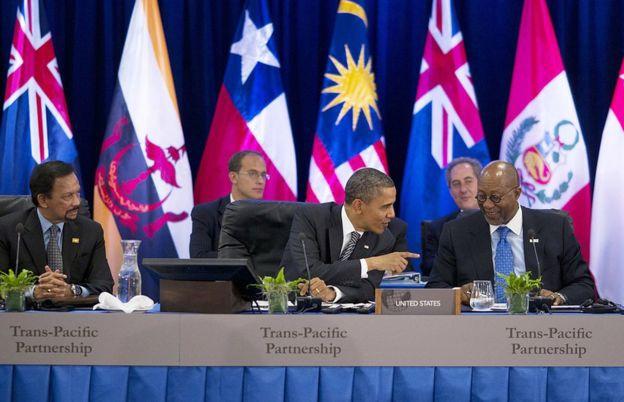 El ahora presidente saliente de EE.UU., Barack Obama, pasó años convenciendo a sus aliados en Asia de que firmaran en TPP.