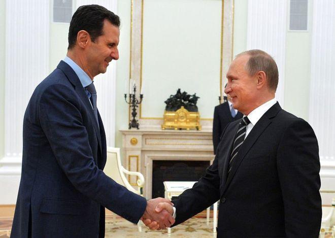 El presidente de Siria, Bashar al Asad y Vladimir Putin se han convertido en fuertes aliados.
