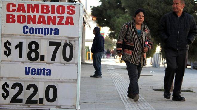 La devaluación se ha sentido en México