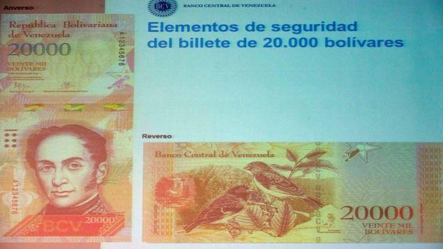 El gobierno anunció la puesta en circulación de nuevos billetes con nuevas denominaciones. El de mayor valor será de 20.000 bolívares.