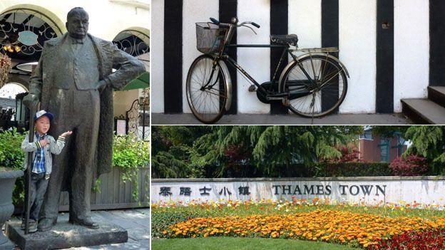 Thames Town es una ciudad al estilo inglés en Shangái. Su nombre le hace honor al río Támesis de Londres.