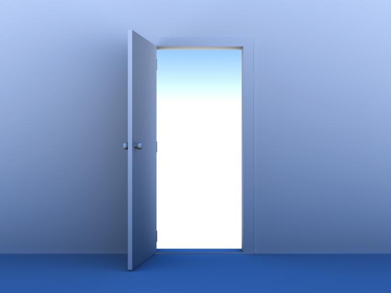 Abrir las puertas es una cábala de Año Nuevo
