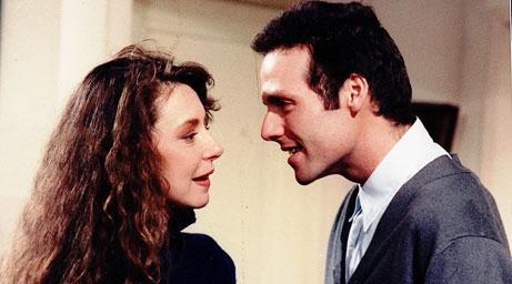 """Claudia Di Girólamo en """"Te conté?"""", de 1990, en Canal 13"""