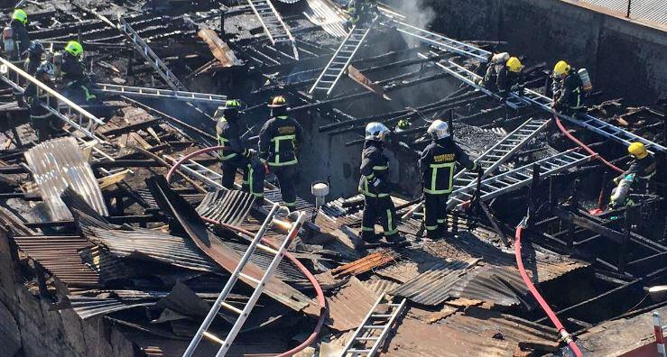 Incendio afectó a cité ubicado en centro de Santiago
