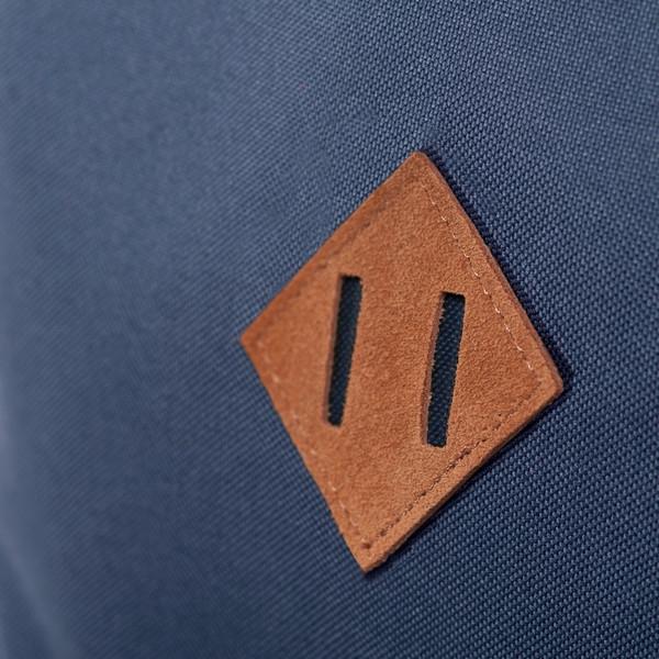 """Este cuadrado cosido a las mochilas se llama """"lash tab"""" o """"nariz de chancho""""."""
