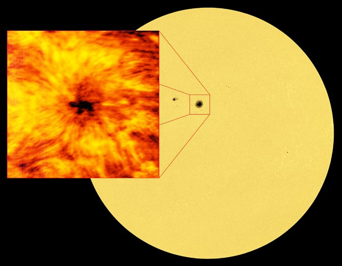 ALMA observa una mancha solar gigante