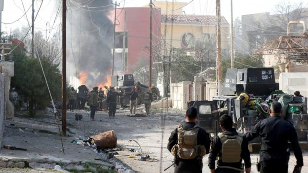 Las Fuerzas Democráticas Sirias han recuperado terreno alrededor de Raqa, pero todavía no recuperan la ciudad.
