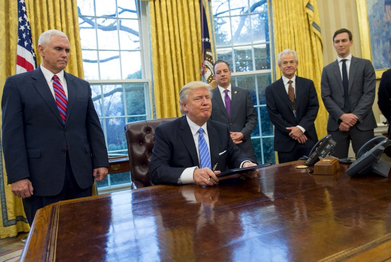 Trump firmó decreto para dejar el TPP