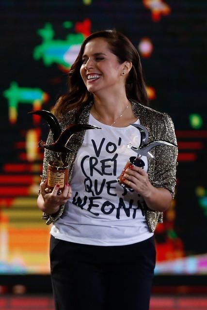 Natalia Valdebenito se llevó todos los premios en el festival