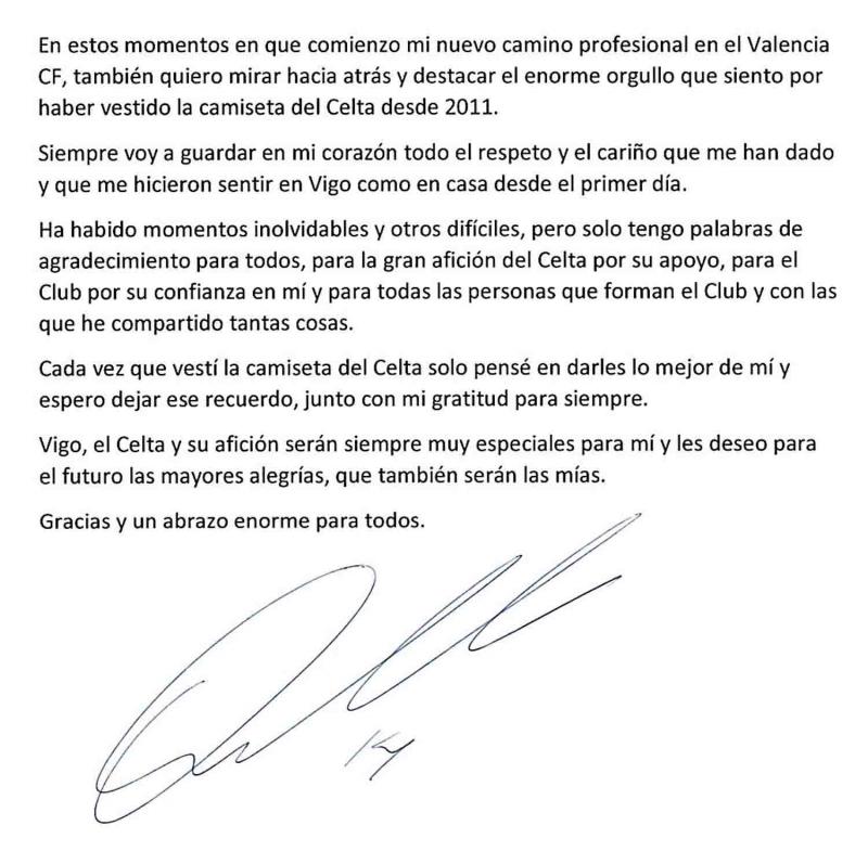 Fabián Orellana Se Despide Del Celta De Vigo Con Emotiva