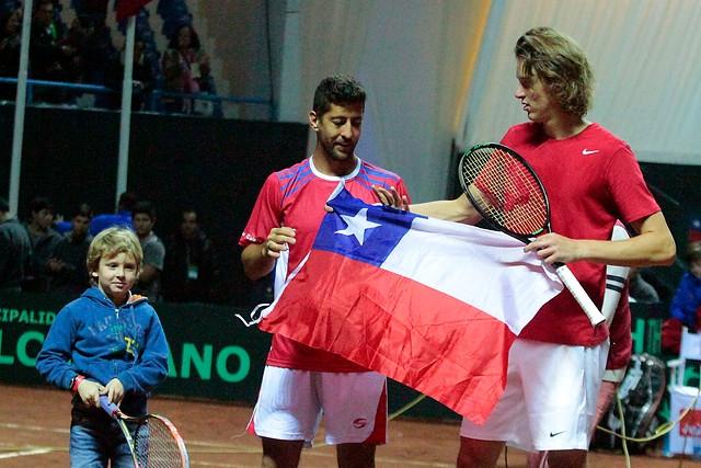 El equipo chileno de Copa Davis cayó frente a Colombia por 3-1