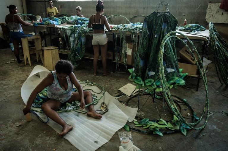 Preparativos para Carnaval de Río