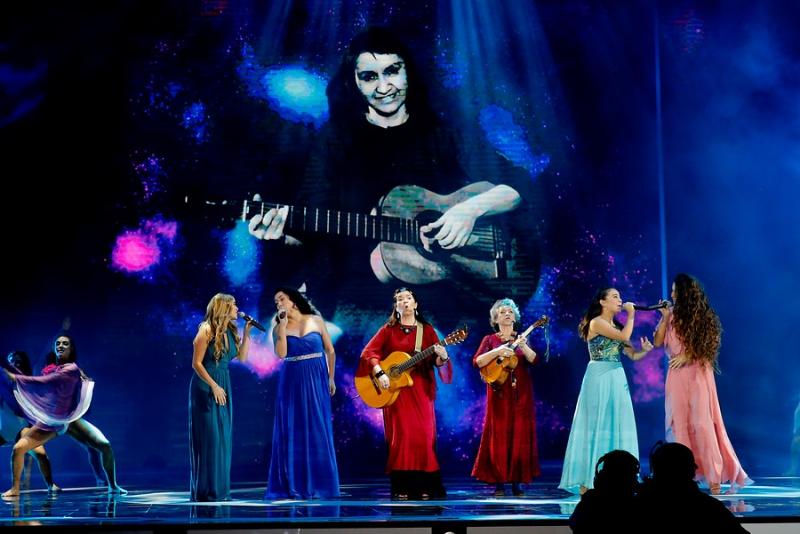 Camila Gallardo, Paz Binimelis, Claudia Acuña y Consuelo Schuster, Isabel Parra y Tita Parra