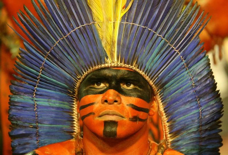 La escuela de samba Imperatriz Leopoldinense se abanderó con la causa indígena.