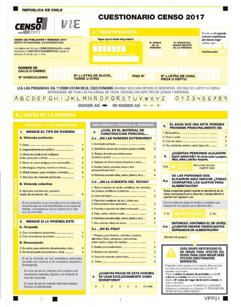 Censo 2017 estas son las 21 preguntas que te har el encuestador tele 13 - Ejemplo certificado energetico piso ...