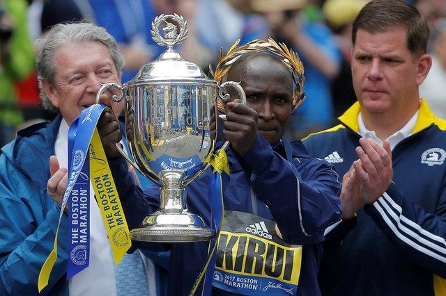 Geoffrey Kirui y Edna Kiplagat ganaron el Maratón de Boston