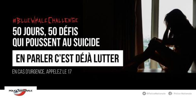 La policía francesa distribuyó una campaña informativa sobre el fenómeno en Facebook.