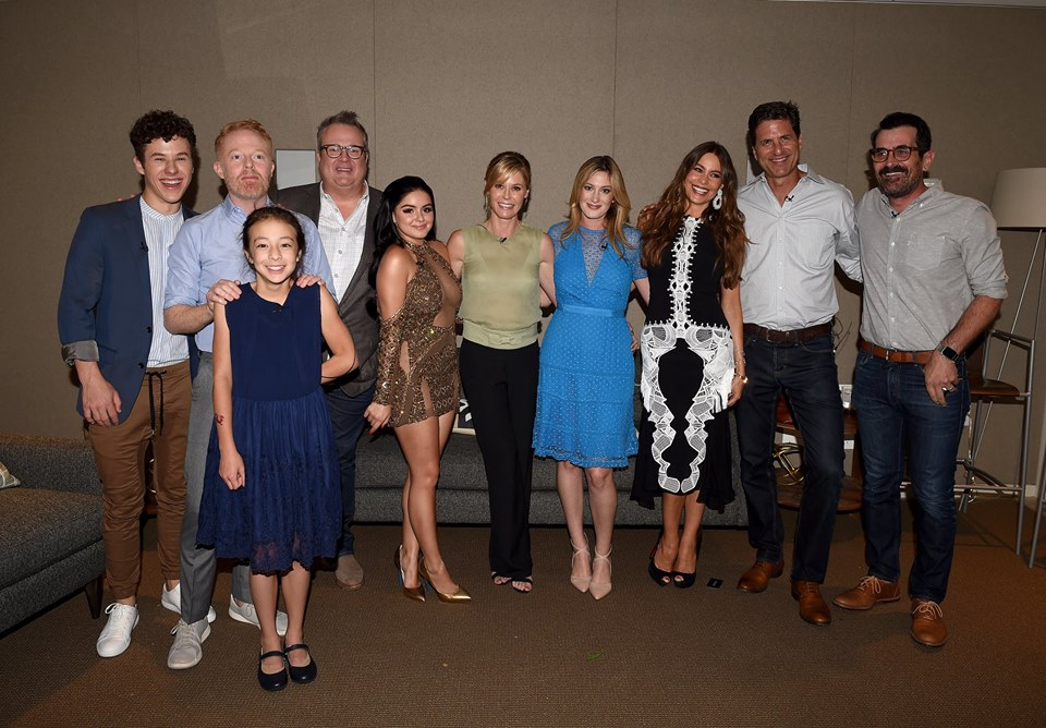 "Ariel Winter y el elenco de ""Modern family"""
