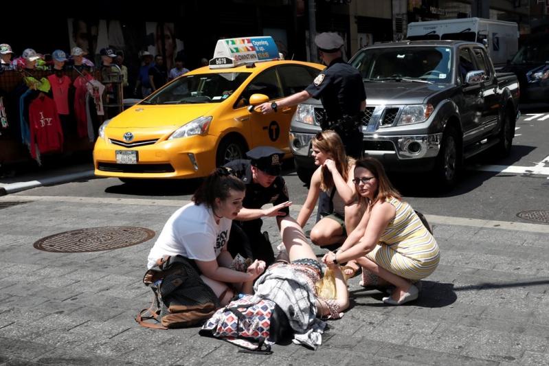 Fuertes imágenes: Momento exacto del atropello en Times Square