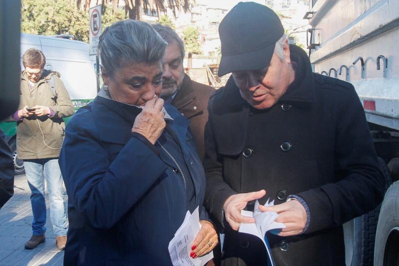 La alcaldesa Reginato se mostró afectada por la destrucción del emblemático reloj de la Ciudad Jardín.