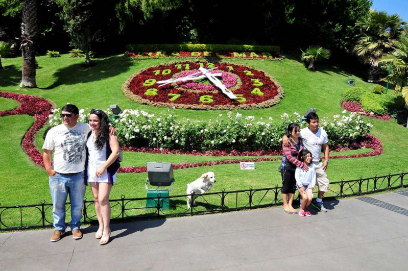 El reloj de flores de Viña del Mar era punto obligado para turistas que visitaban la ciudad.