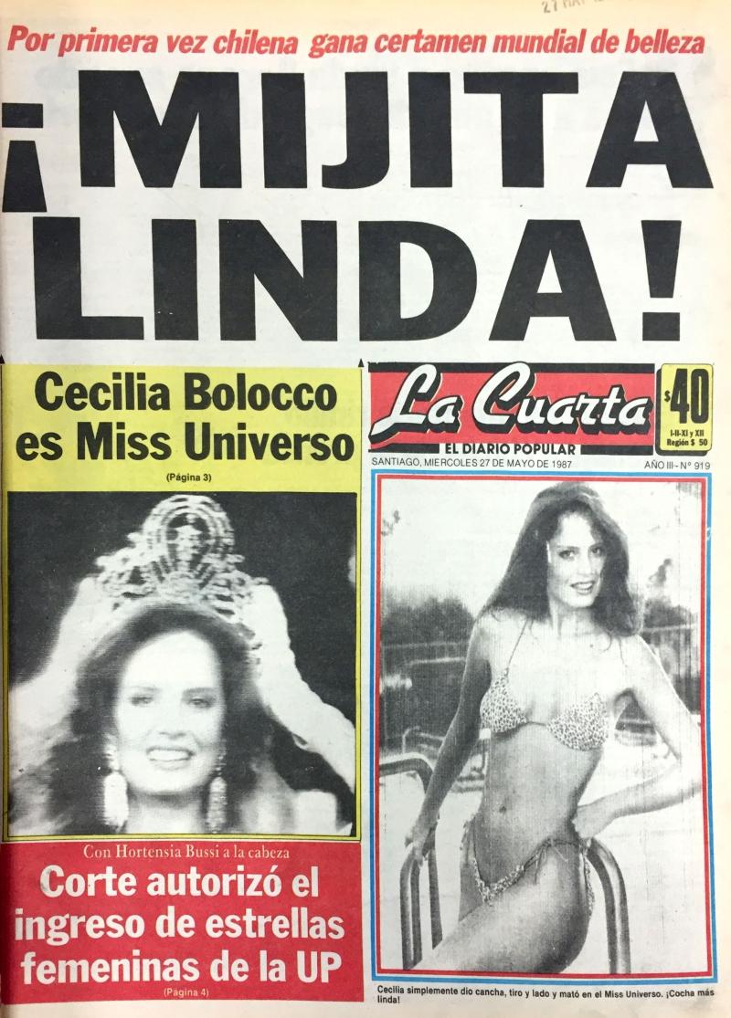 Cecilia Bolocco: el impacto en medios y TV por ser Miss ...