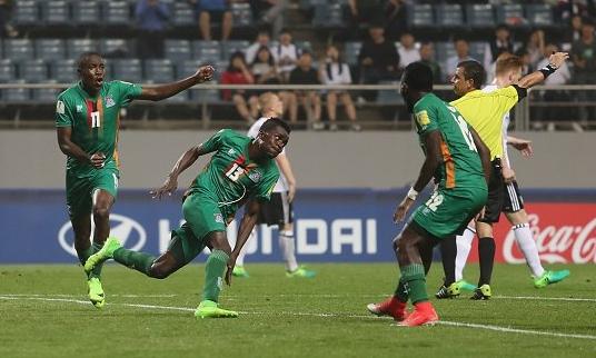 Zambia venció a Alemania y logró boleto histórico a cuartos