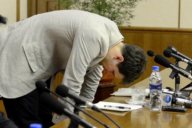 Otto Warmbier pidió disculpas entre lágrimas antes de ser condenado.