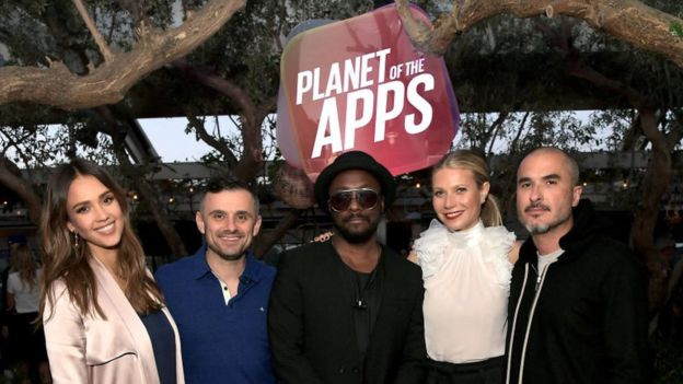 Gwyneth Paltrow, Jessica Alba, Will.I.Am y Gary Vaynerchuk son los jueces de 'El planeta de las apps'.