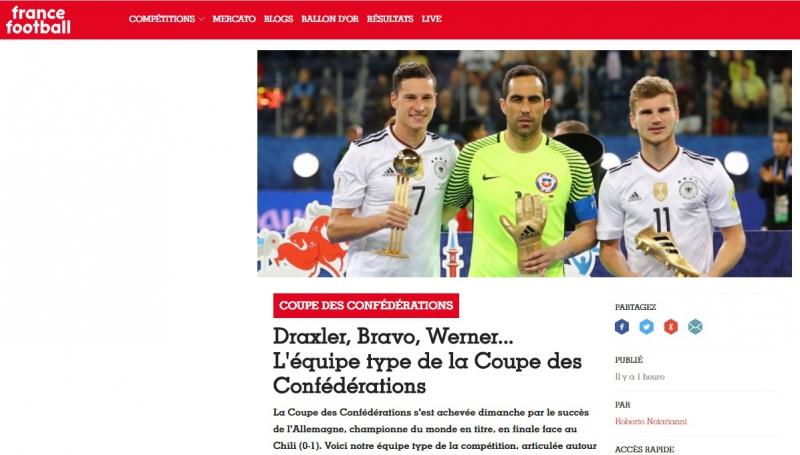 Cuatro chilenos en el equipo ideal