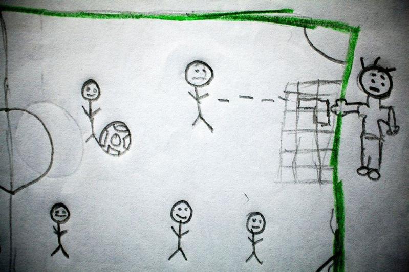 Los estremecedores dibujos de nios de entre 10 y 13 aos que