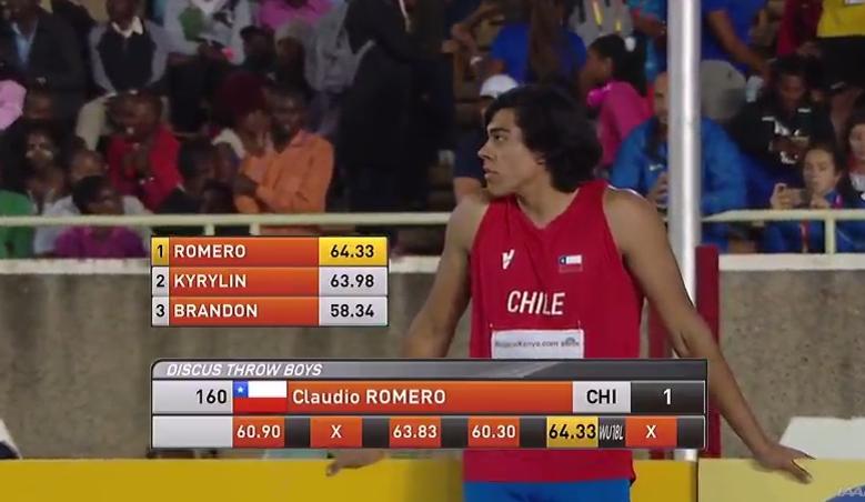 Claudio Romero se corona campeón en Mundial de Atletismo Sub 18