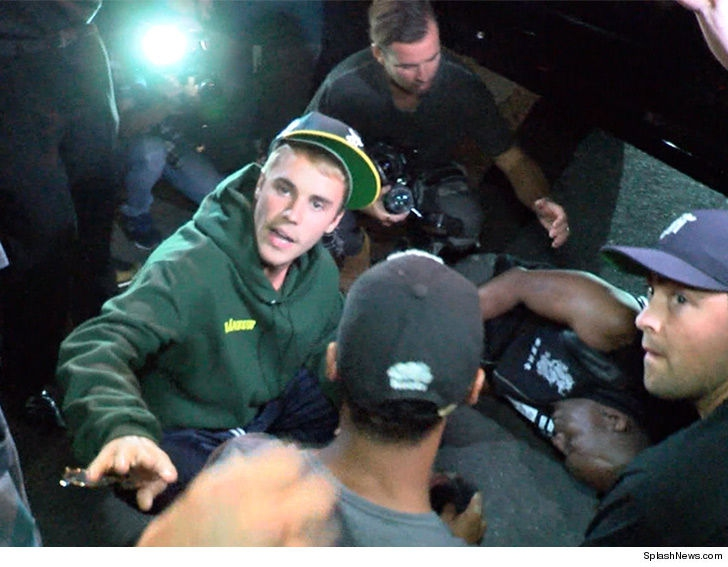 Justin Bieber atropella a un fotógrafo a la salida de un evento