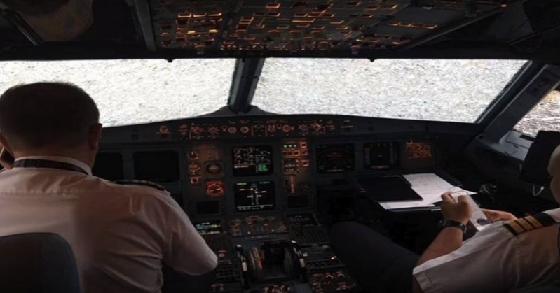 La deslumbrante maniobra de un piloto al aterrizar