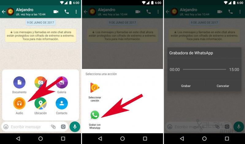 el método para enviar audios por whatsapp sin presionar ningún bo