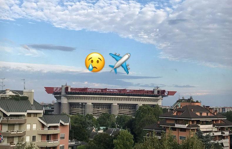 La imagen con que Gary Medel se despide de Milán