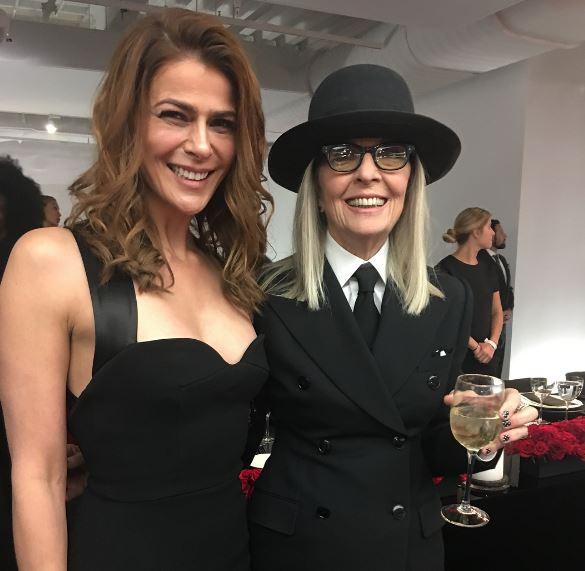 Tomicic junto a Diane Keaton