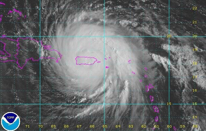 Ojo del hurac n mar a entra en puerto rico tele 13 - Puerto rico huracan maria ...