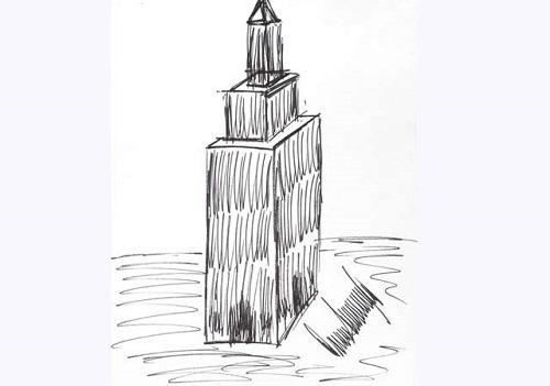 Resultado de imagen para dibujo de edificio de trump