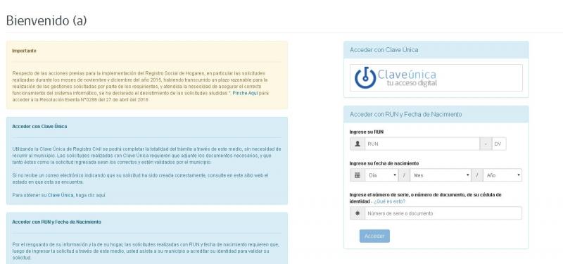 Registro Social de Hogares: revisa cómo ingresar