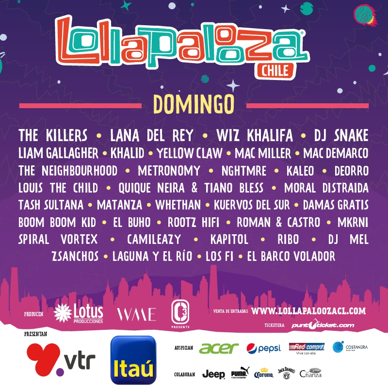 Muito Lollapalooza Chile 2018: revisa cartel de artistas por día | Tele 13 UJ97