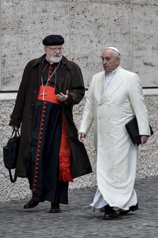 Sean O'Malley junto al Papa Francisco.