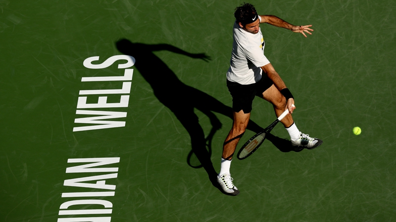 Avanza Roger Federer a cuartos de final en torneo Indian Wells