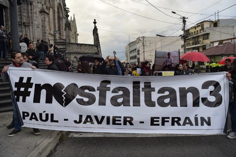 Ministro ecuatoriano: Periodistas fueron asesinados en Colombia y sus cuerpos siguen ahí