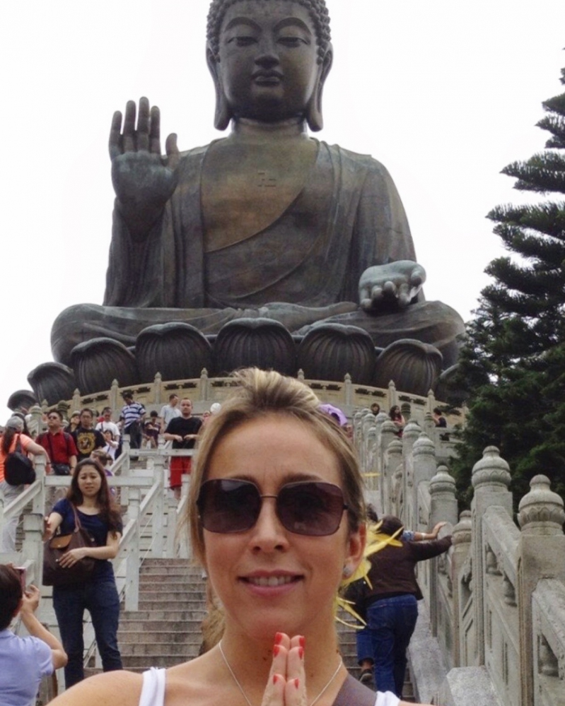Jennifer Warner cuando vivió en Asia